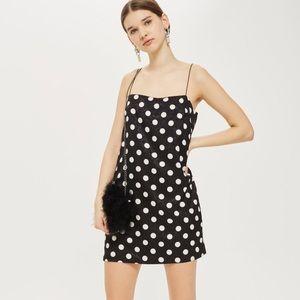 Strappy Pola Dot Dress